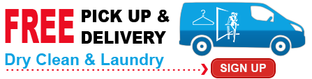 pickup and delivery dry cleaning services